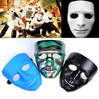New Scary White Face Halloween Masquerade DIY Mime Mask Ball Party Costume Masks