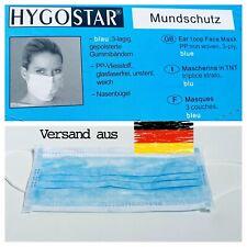 Hygostar Marken Mundschutz 3lagig Gesichtsmaske Atemschutz CE Maske DE 50 Stk