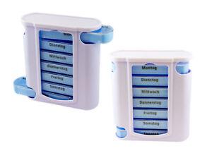Pillenbox Medikamentenbox Tablettenbox 2er SET- 14 Tage Wocheneinteilung