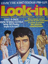 LOOK-IN MAGAZINE 14TH OCT 1972 - ELVIS PRESLEY