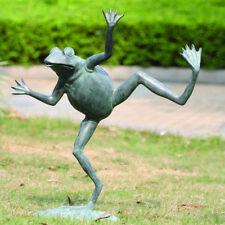 Spi Home 32502 Dancing Brass Frog Spitter Sculpture Pond Fountain Garden Statue