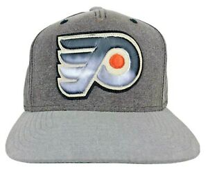 Philadelphia Flyers Gradient Gray Adjustable Hat Big 3D Stitched Logo NHL NWT