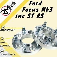 Ford Focus Mk3 inc ST RS 5x108 20mm Hubcentric wheel spacers 2 pairs uk made