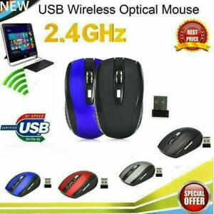 5 Buttons 2.4G USB Wireless Mouse 1600DPI Optical Mice for Laptop (Black)