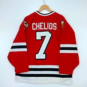Chris Chelios #7 Chicago Blackhawks Ccm Vintage Jersey Large Red Nhl Hockey