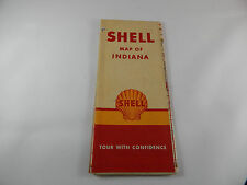 Vintage Map Of Indiana Road Map from Shell Oil Co.