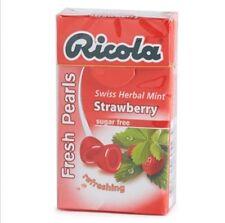 Ricola Swiss Herbal Sugar Free Strawberry Fresh Pearls 10 Packs