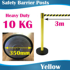 Safety Yellow Retractable Barrier Post Crow control barriers Traffic 3m Belt