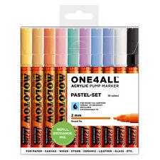 Molotow One4all 127 HS 10 Pastel Set 10 Marker Paint Patent Acrylic 127hs Kit