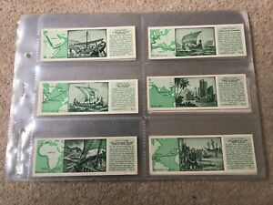Typhoo Tea Famous Voyages full set of Cards in sleeves