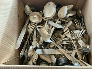 Huge lot of silverplate flatware 22lb+ lot of Rogers