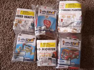 Lot of 6 Kids Workshop Kits Lowes Home Depot Fire Truck Planter Soccer Game +