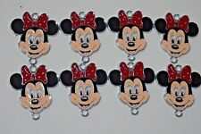 Wholesale 8 pcs Minnie Mouse Jewelry Making Metal Figures Pendant Charms FREE SH