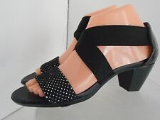 MUNRO USA Women Elastic Open Toe Closed Heel Sandal Shoe SZ 7 N New MSPR $179