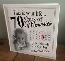 """Personalised extra large photo album, 360 6x4"""" photos, 70th birthday or any age?"""