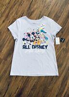 NWT Disney store Women White Snow Poison T Shirt Tee Top Blue