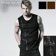 Solid Sleeveless Punk T-Shirts for Men