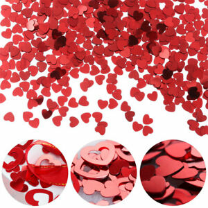 Supplies PVC Lose Sequins Heart Shapes Glitter Valentine's Day Table Confetti