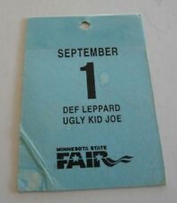 Def Leppard Minnesota Fair Tour Issued Used Backstage Pass Laminate Ticket