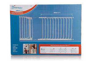 Dreambaby 100cm Chelsea extension White kid toddler safety child gate New