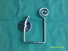 "stylish chrome coat hook 7"" x 4"" folds flat to wall when out of use"