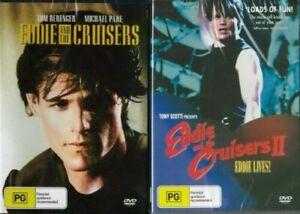 EDDIE AND THE CRUISERS I & II DVD NEW Region 4 Eddie Lives RARE Michael Paré 1 2