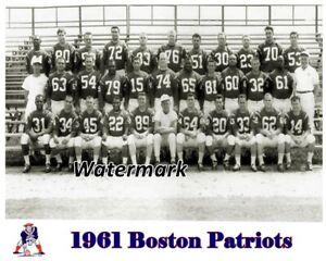 AFL 1961 Boston New England Patriots Team Picture Black & White 8 X 10 Photo Pic