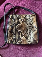 Tula Genuine Snakeskin Sholder/ Crossbody Bag