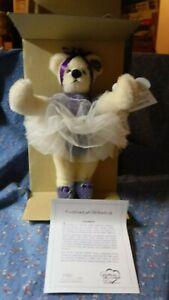 """b. NIB Annette Funicello Bear  Antoinette Tip Toe Teddy  1062/2500 C23219 8 1/2"""""""