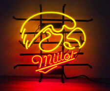 "New Miller Lite Hawkeyes Beer Bar Neon Sign 19""x15"""