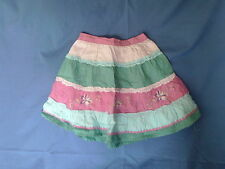 Girls 4-5 Years - Pink/ Blue/Green Tiered Embroidered Summer Skirt - Mothercare