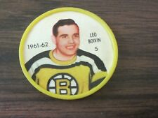 1961-62 Salada plastic coin # 5 Leo Boivin (B23) Boston Bruins