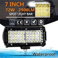 7inch 6000K LED Work Light  Bar Spot Flood Work Driving Lights OffRoad