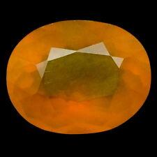 TOP BIG OPAL : 30,11 Ct Natürlicher Orange Gelb Feuer Opal aus Mexiko