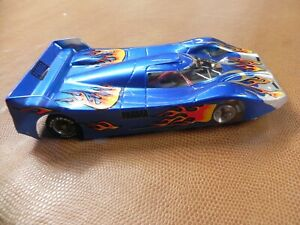 BLUE FLAMMED GP CAR ON 4 INCH CHASSIS