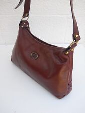 Etienne Aigner Vintage Classic Dark Burgundy Soft Leather Signature Shoulder Bag