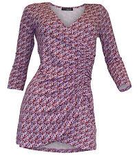 Figurbetonte Damenblusen, - tops & -shirts im Tuniken-Stil mit V-Ausschnitt