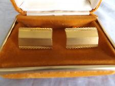 Pair Vintage Smartset West Germany Gents Cufflinks ~ Gold Plated MIP