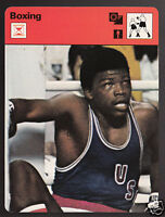 JOHN TATE Boxing USA 1976 Olympic Games Boxer 1977 SPORTSCASTER CARD 16-15