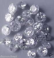 0.101 Cts total Great lot x10  loose natural River D round diamonds 1.2-1.3 mm