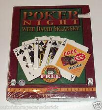 Poker Night With David Sklansky (PC, 1999) Brand New Sealed Not For Resale Copy