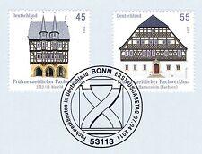BRD 2011: Fachwerkhäuser Nr 2861+2862 mit Bonner Ersttags-Sonderstempel! 1A 159