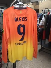 Nike 2012 2013 Alexis Sanchez XL L/S FC Barcelona Away Shirt Jersey Kit NWT