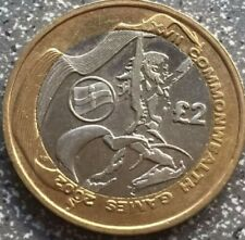 2002 £2 TWO POUND COIN NORTHERN IRELAND COMMONWEALTH GAMES CIRCULATED