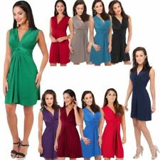 V Neck Sleeveless Tops & Shirts for Women with Ruched
