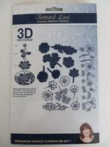 Tattered Lace Decoupage Fantasy Flowers die set 1 Craft Die 486098 brand new