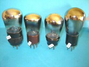 lotto di quattro valvole radio anni '30 triodi.  lampe Röhre.  test + che buono