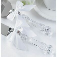 Wedding Cake Knife and Server Set with Acrylic Handle
