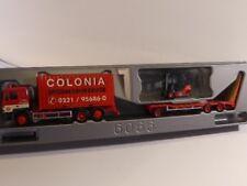 1/87 Herpa MAN F 90 Container-LKW mit Goldhofer TU3 und Gabelstapler Colonia ...