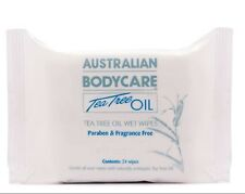 Tea Tree Oil Wet Wipes Australian Body Care Naturally Antiseptic Travel Moist
